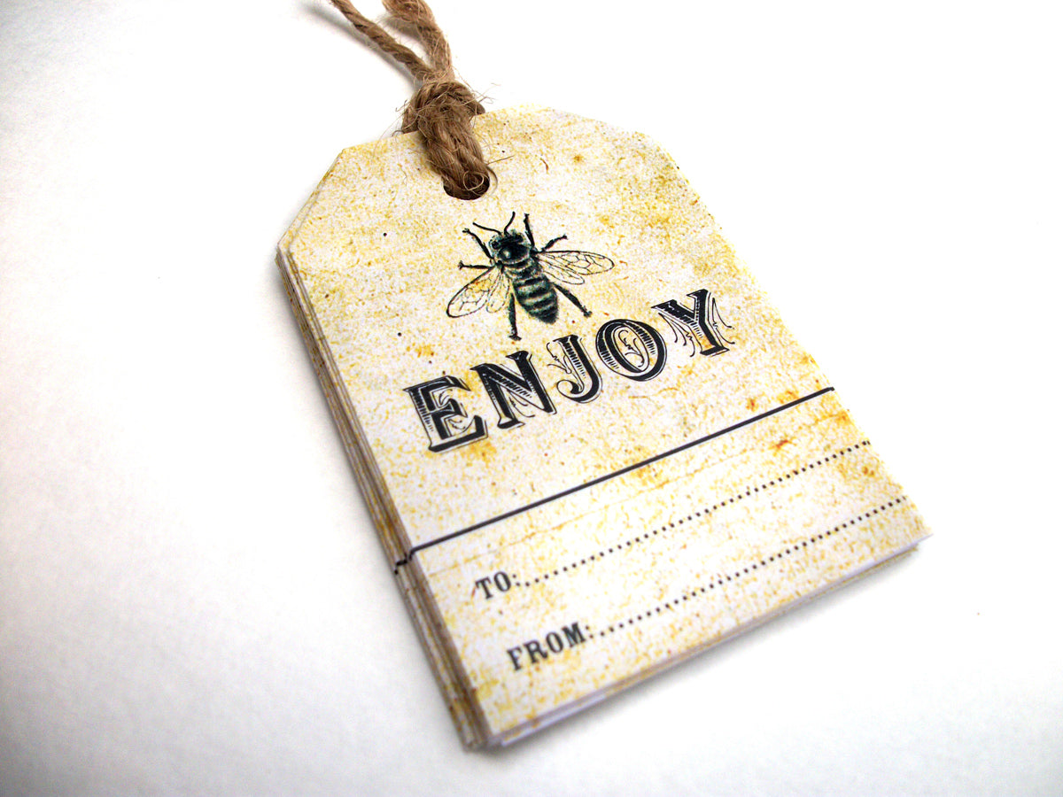 Vintage Honey Bee Hang Tags | CanningCrafts.com