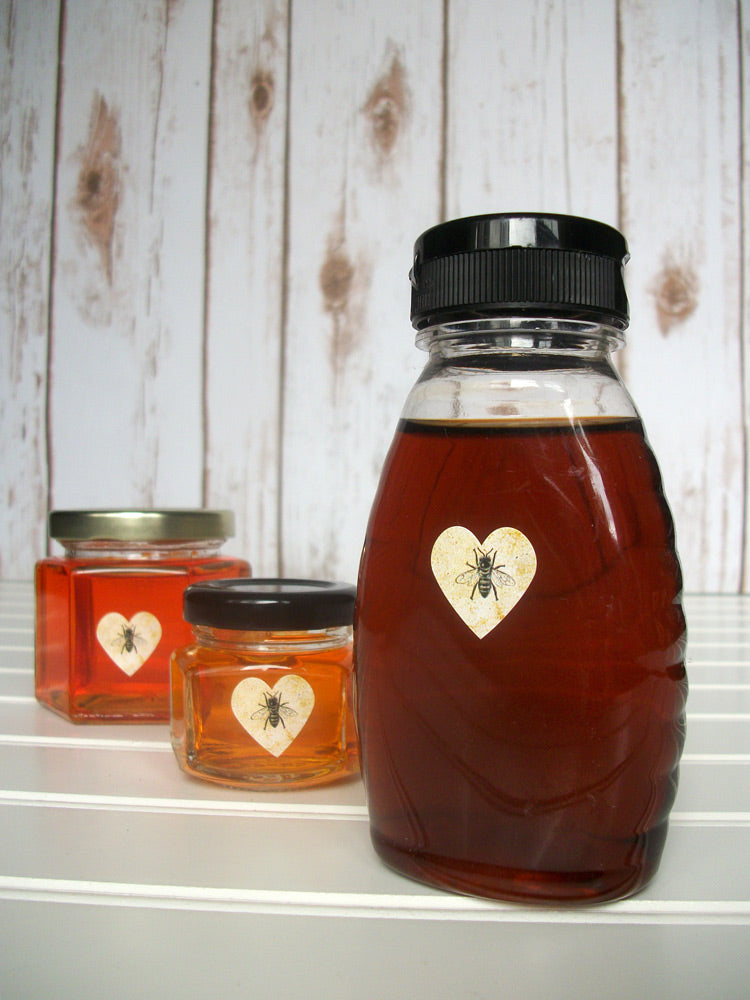 vintage honey bee heart labels | CanningCrafts.com