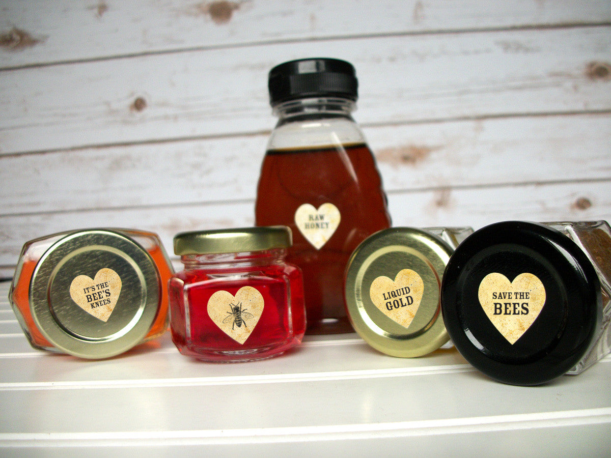 Organic Raw honey bottle labels | CanningCrafts.com