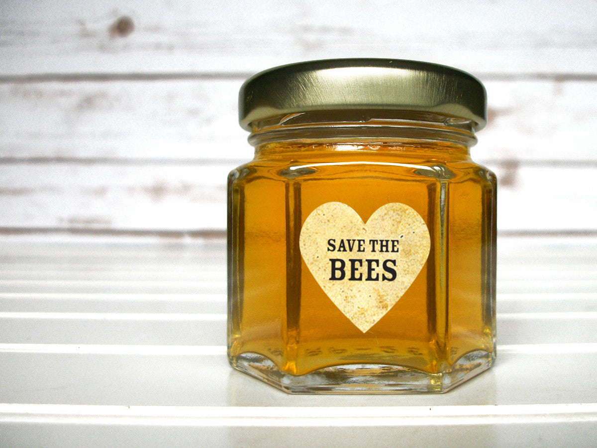 Save the Bees honey jar labels | CanningCrafts.com