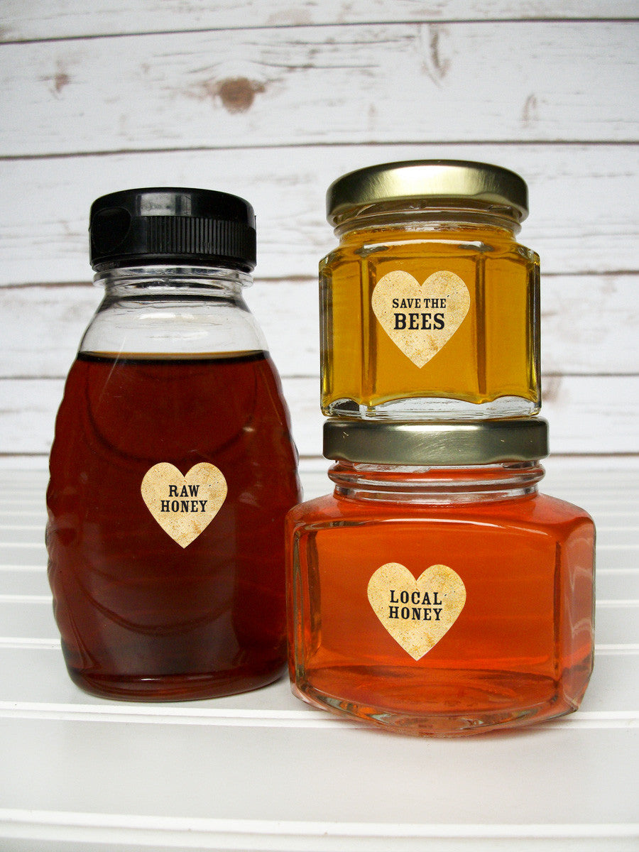 Raw Local honey bottle labels | CanningCrafts.com