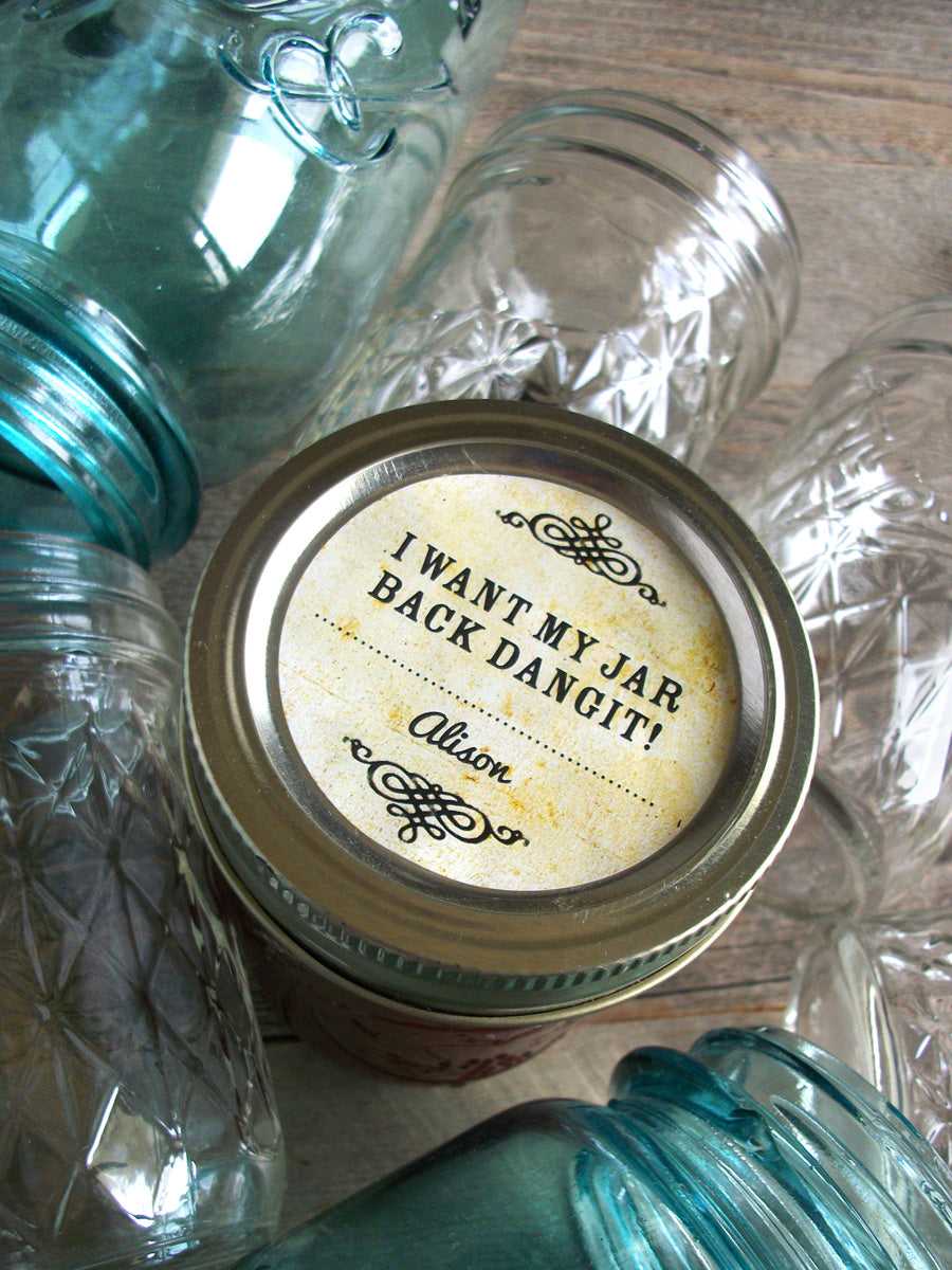 Custom Vintage Return Jar Dangit Canning Labels | CanningCrafts.com