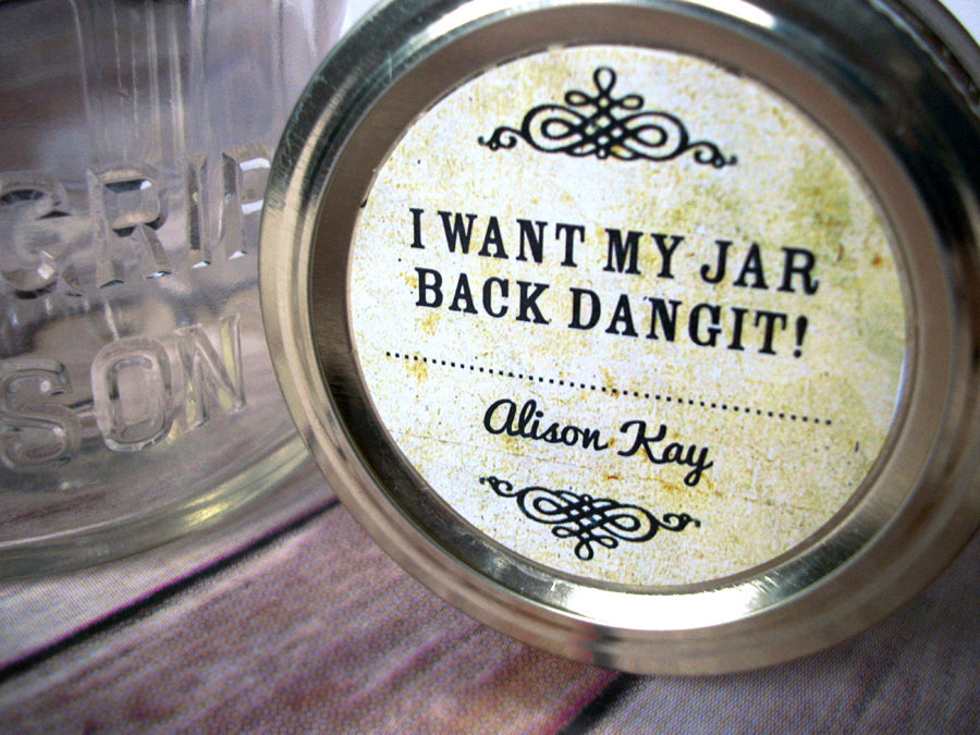 Custom Vintage Return My Jar Dangit Canning Labels | CanningCrafts.com