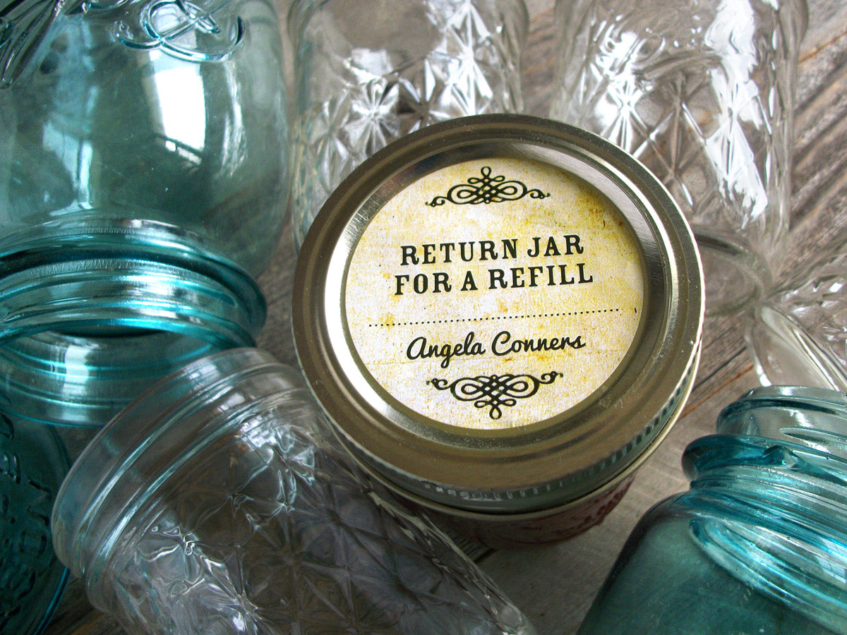 Custom Vintage Return Jar for a Refill Canning Labels | CanningCrafts.com