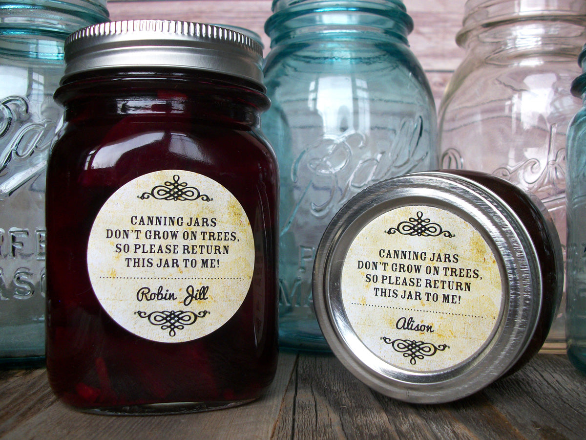 Vintage return jar poem canning labels | CanningCrafts.com