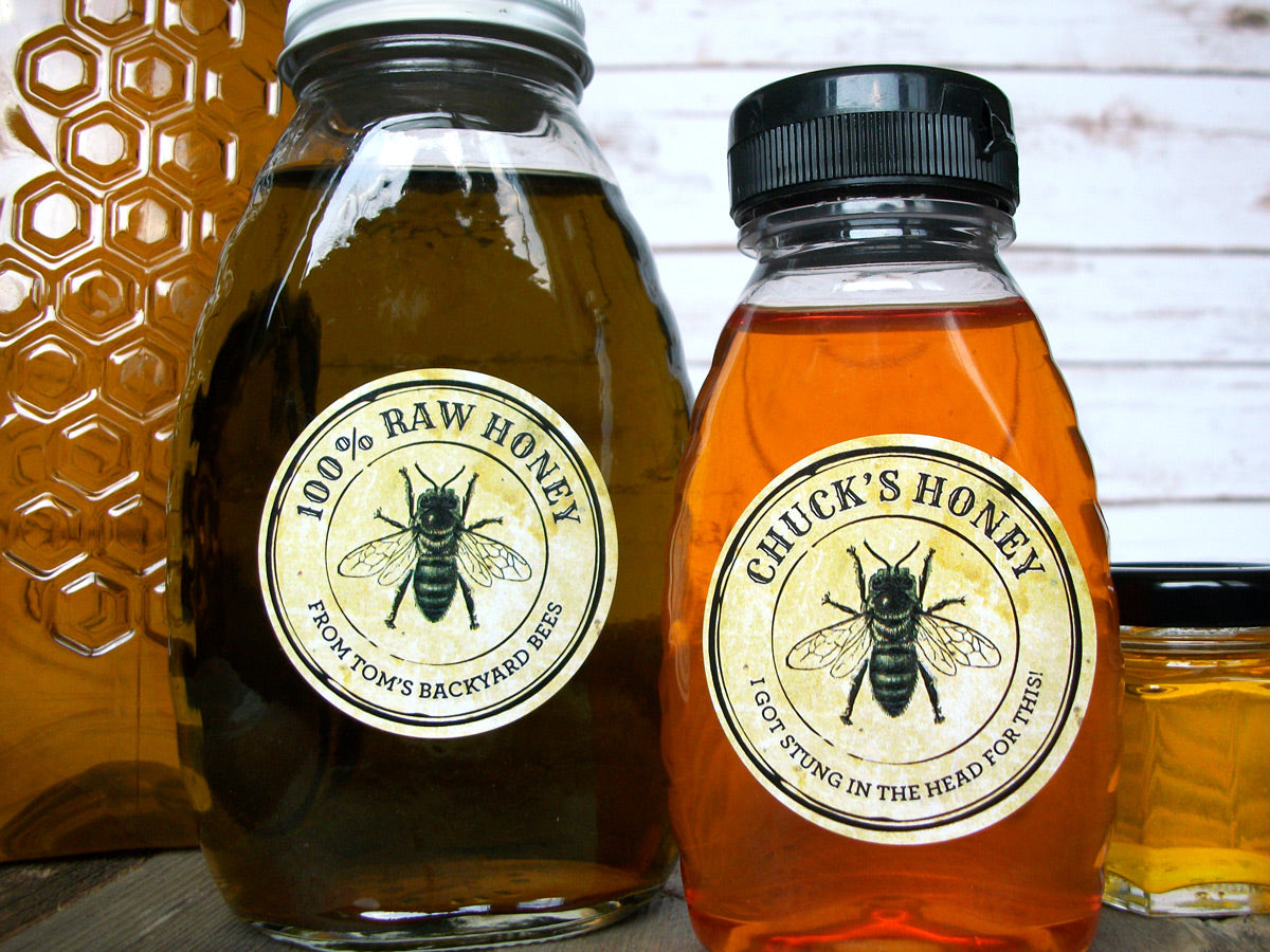 Custom Vintage Seal Honey Labels | CanningCrafts.com