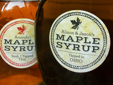 custom Vintage Seal Maple Syrup labels | CanningCrafts.com