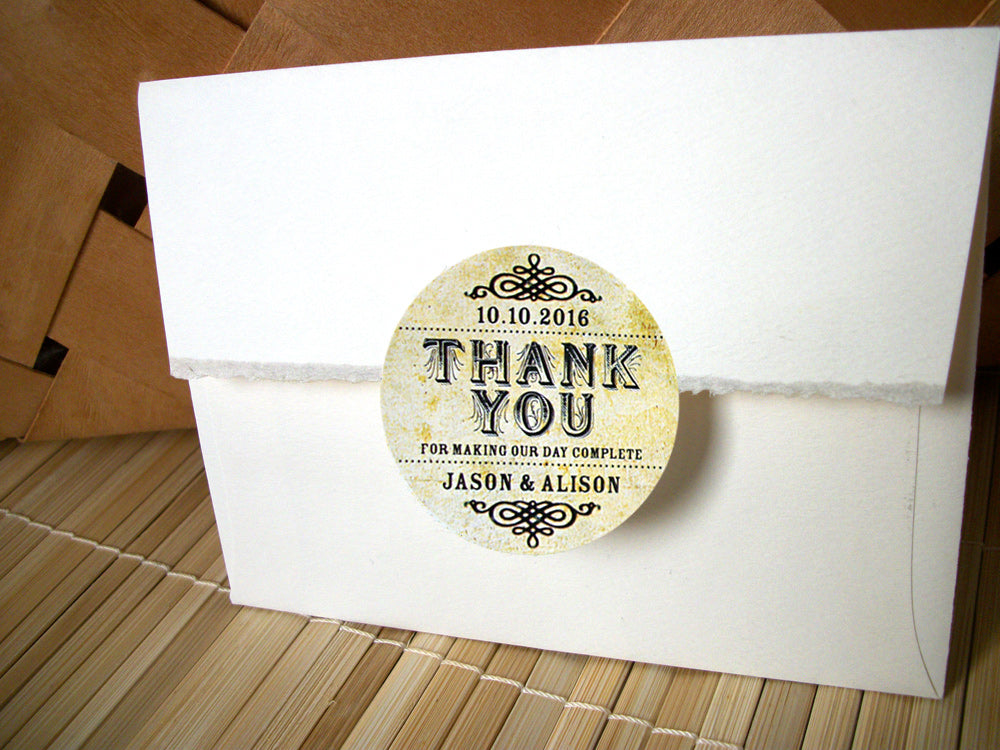 Vintage Thank You Wedding Canning Labels | CanningCrafts.com