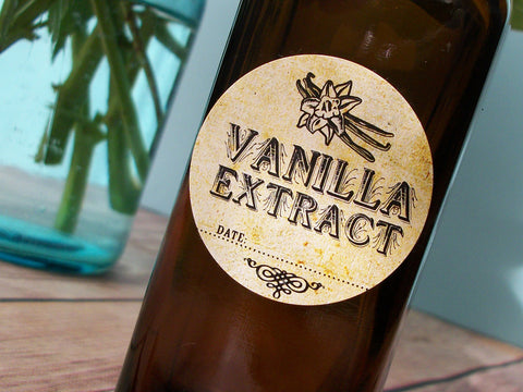 Vintage Vanilla Extract Labels | CanningCrafts.com