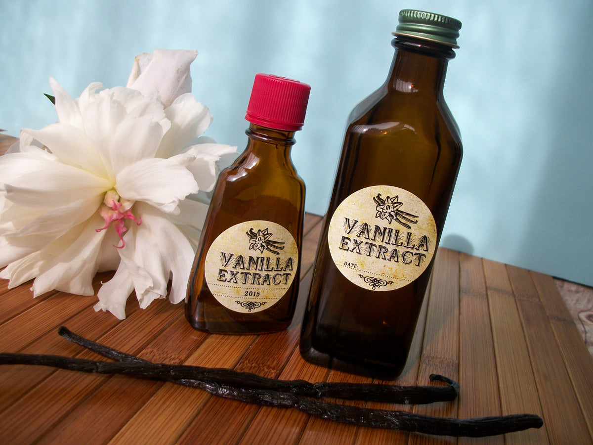 Vintage Vanilla Extract Bottle Labels | CanningCrafts.com