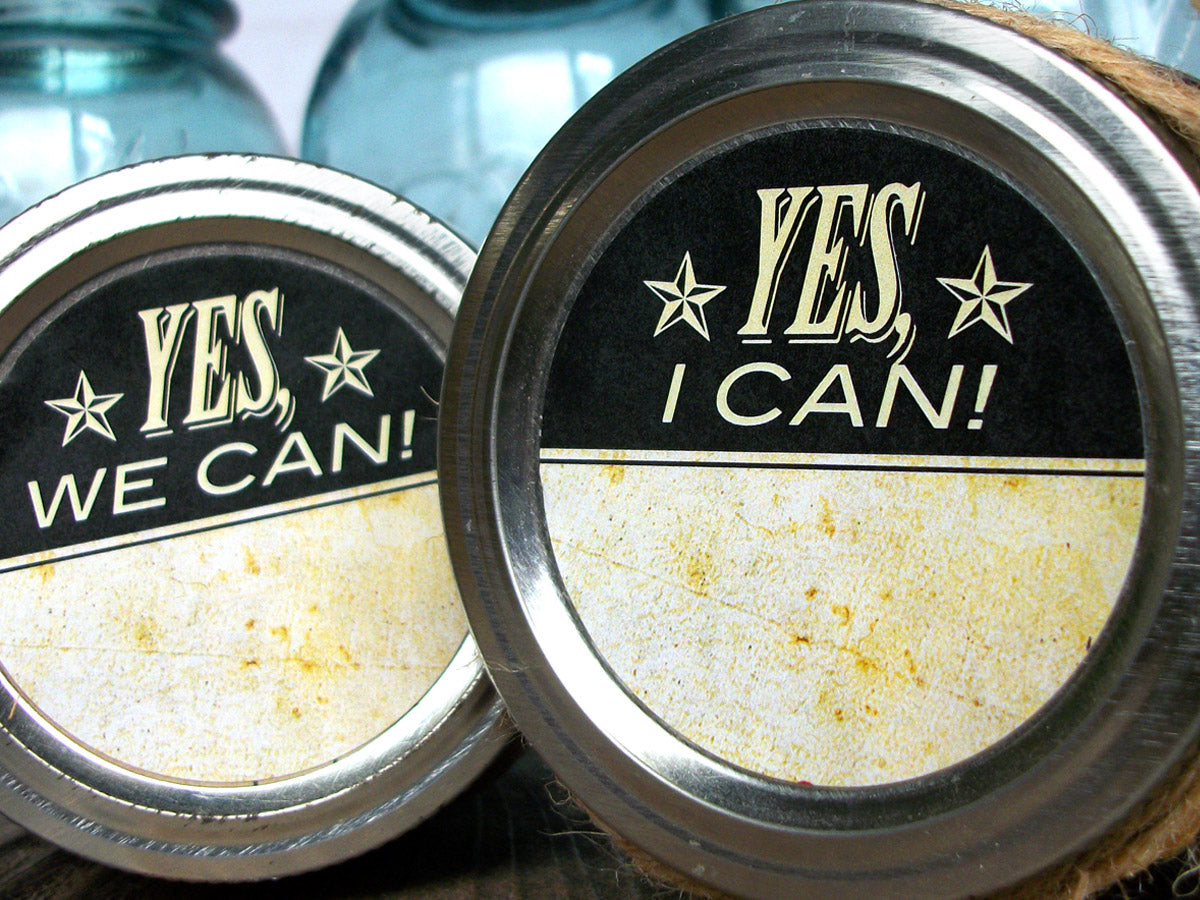 Vintage Yes I Can victory garden canning labels | CanningCrafts.com