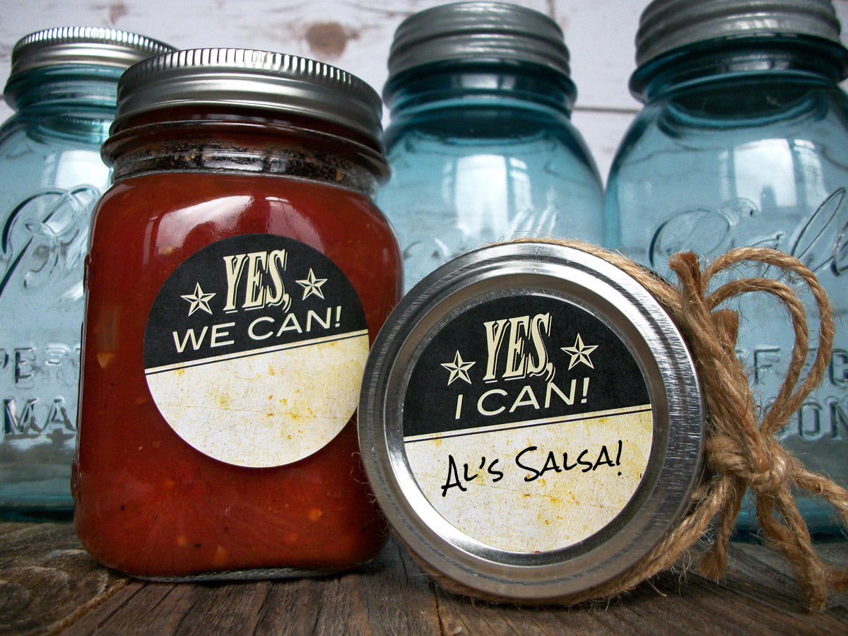 Vintage Yes I & We Can victory garden canning labels | CanningCrafts.com