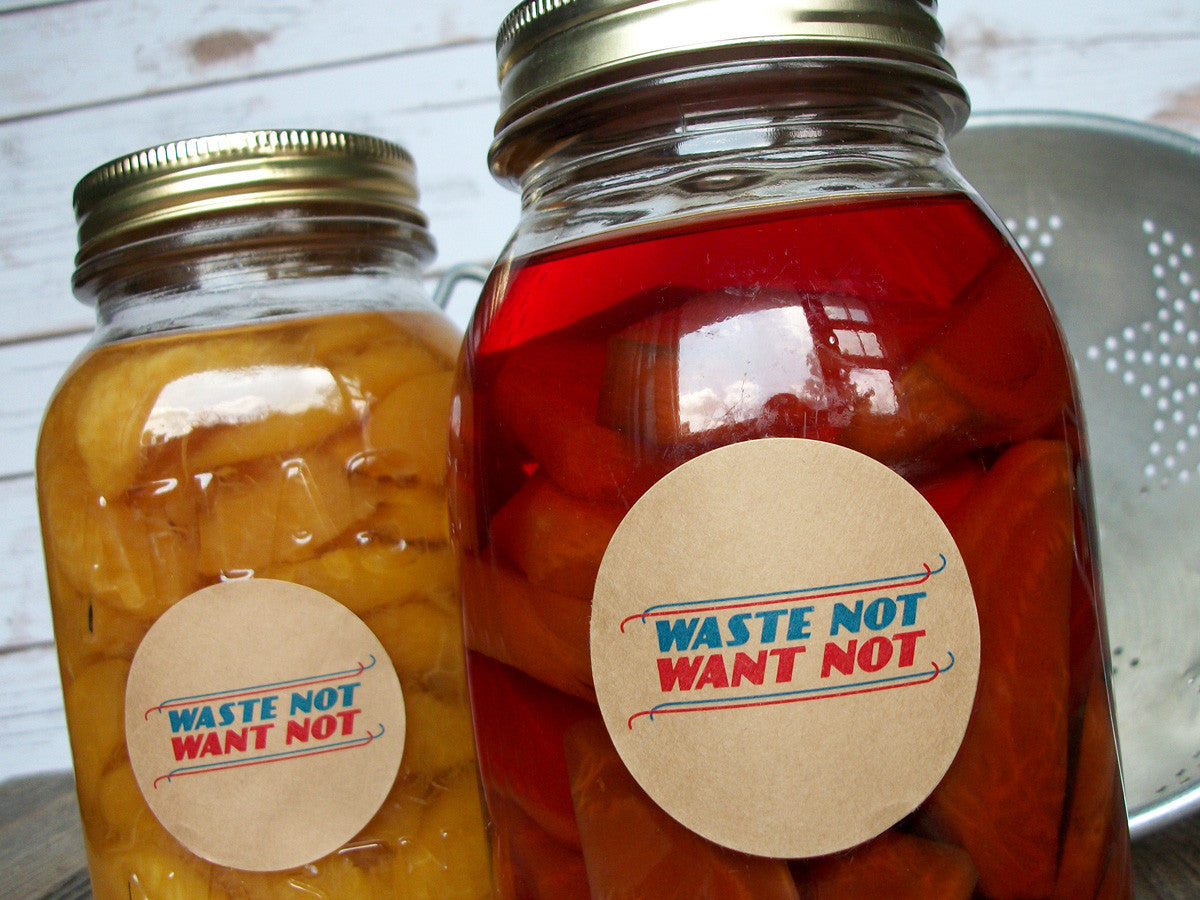 Waste Not Want Not Canning Labels