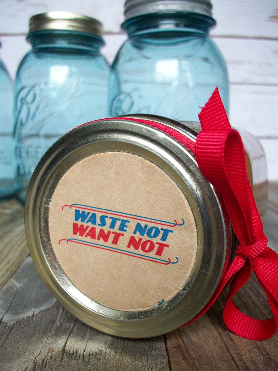 Waste Not Want Not Canning Labels | CanningCrafts.com