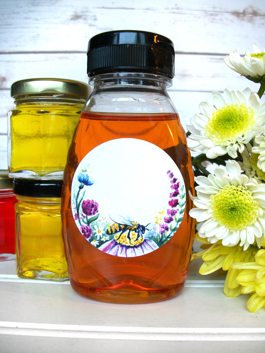 Watercolor Wildflower Honey Labels | CanningCrafts.com