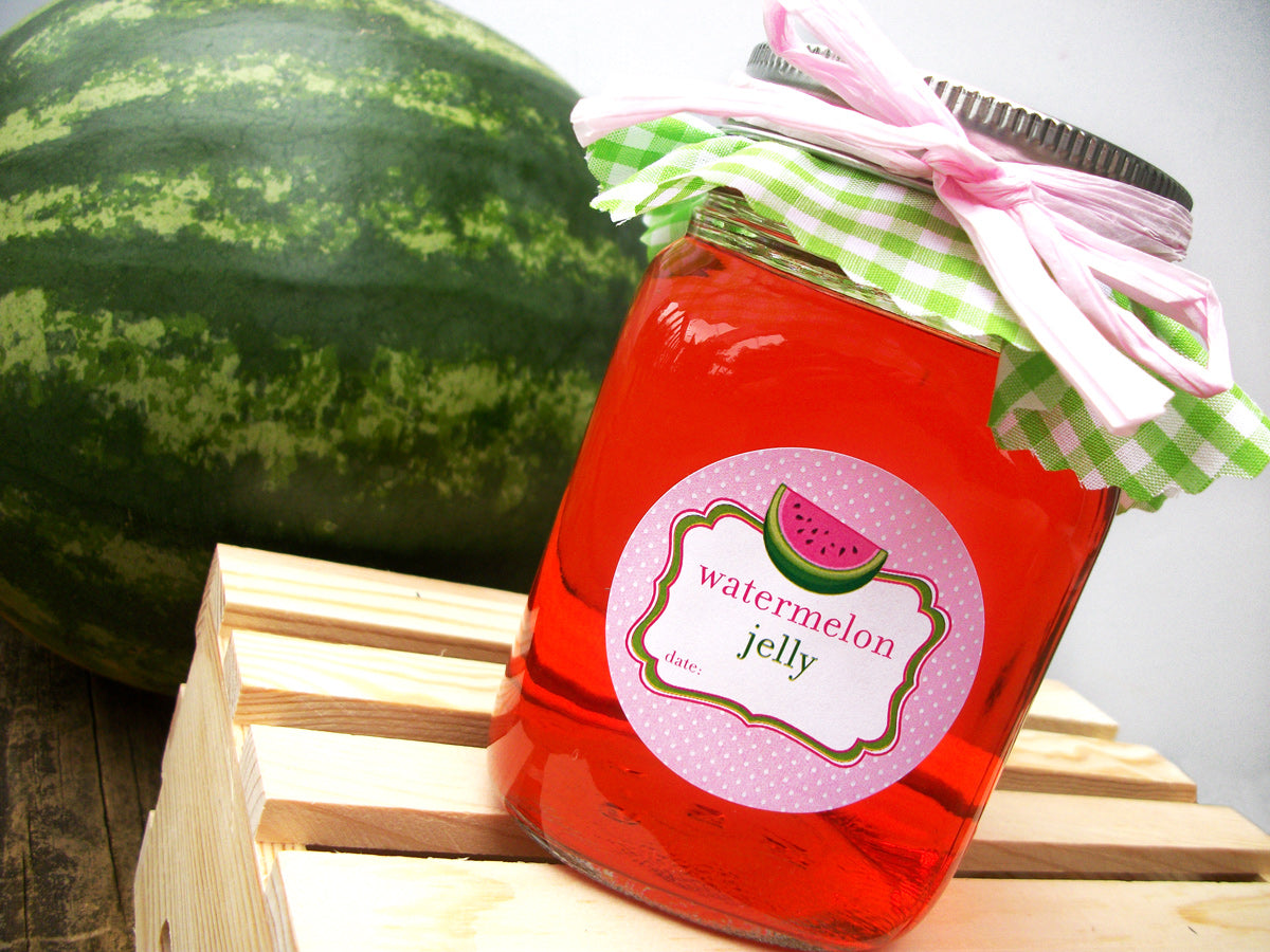 Watermelon Jelly Canning Jar Labels | CanningCrafts.com
