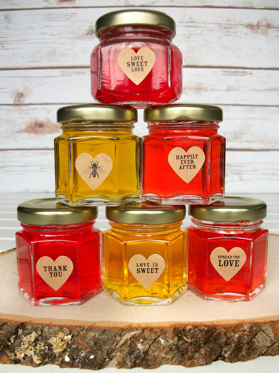 Kraft Wedding Jam Jar Heart Labels | CanningCrafts.com