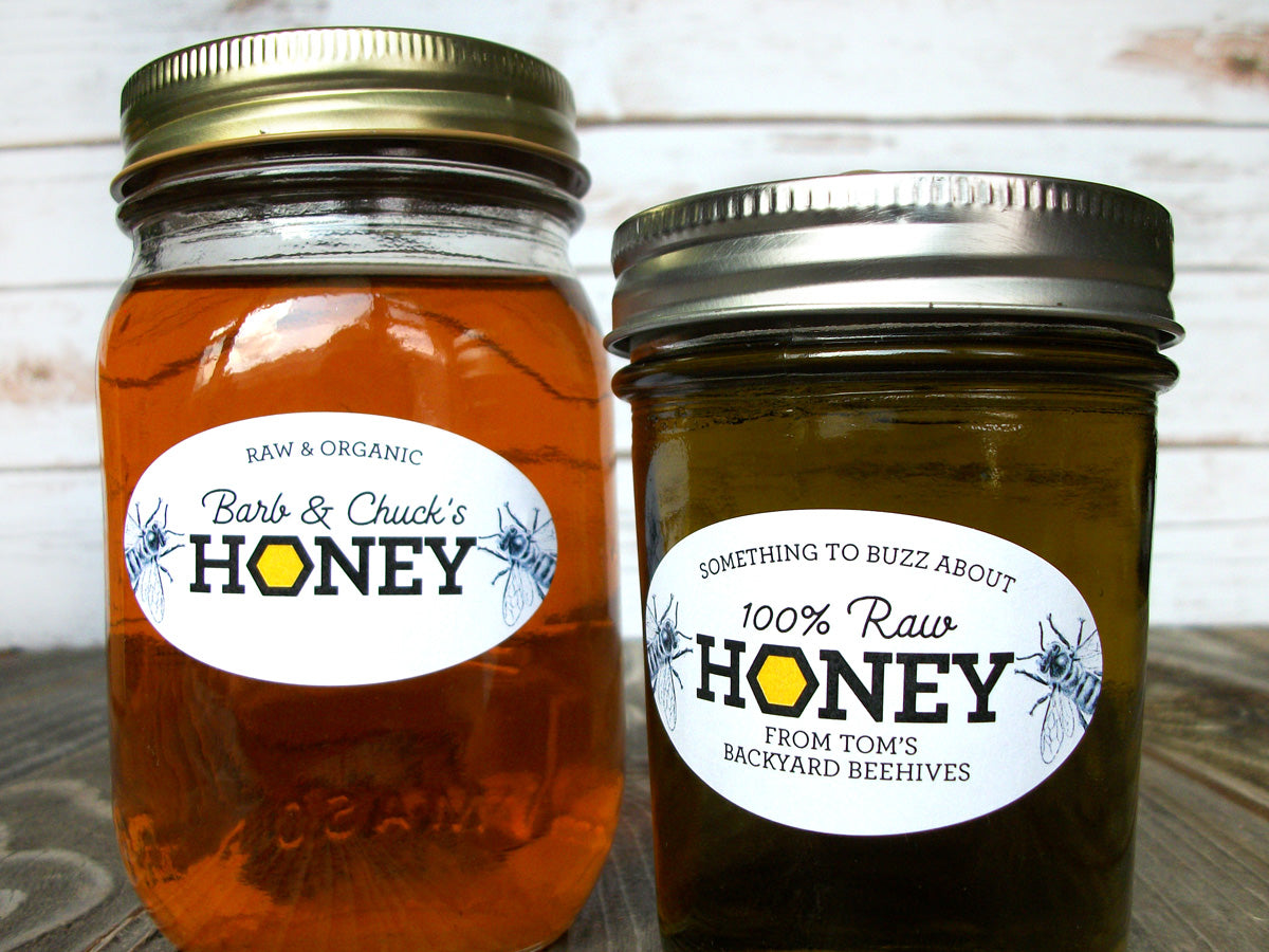 Custom Honeycomb Oval Honey Labels | CanningCrafts.com