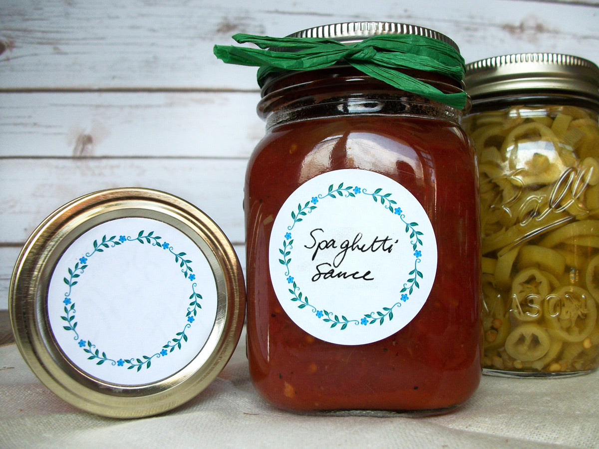 Wreath Herb & Spice Canning Labels | CanningCrafts.com