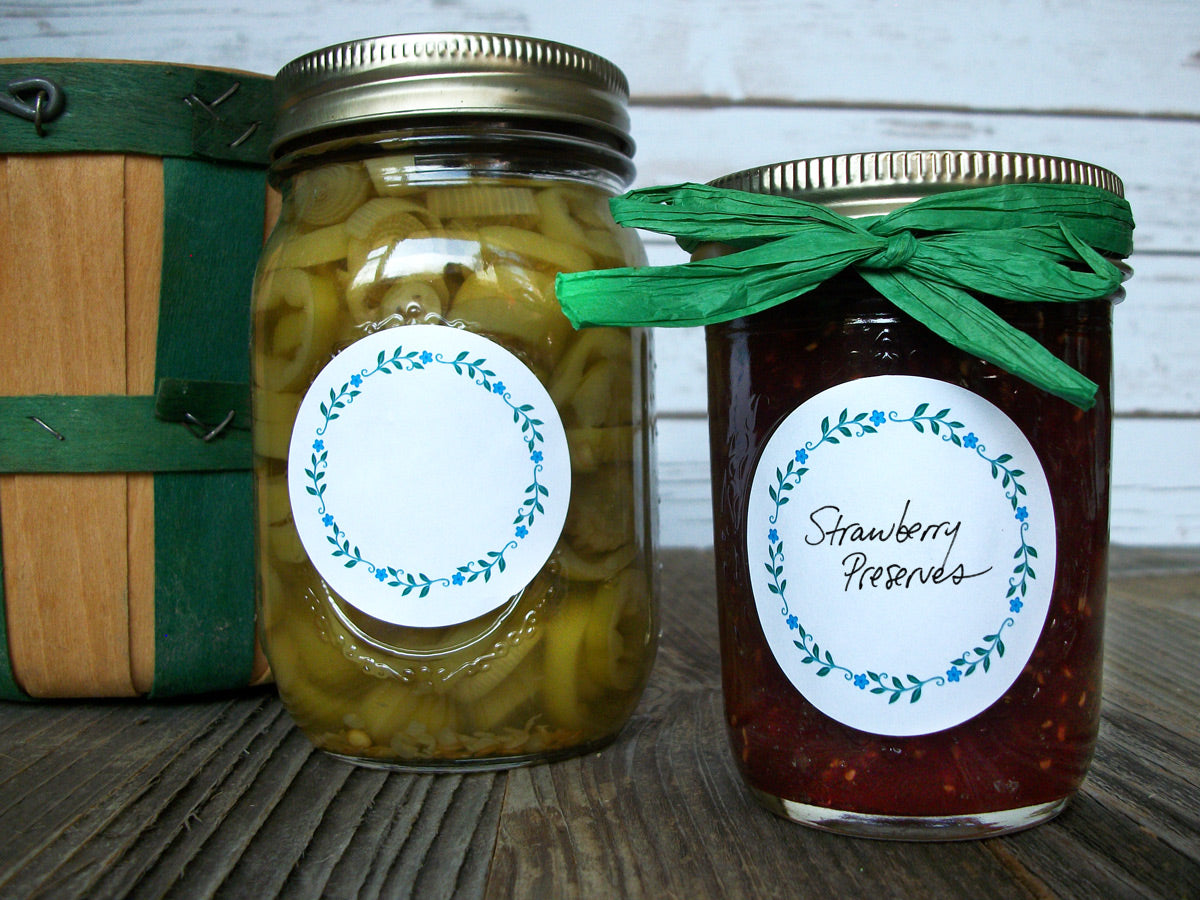 Wreath Herb & Spice Canning Jam Jar Labels | CanningCrafts.com