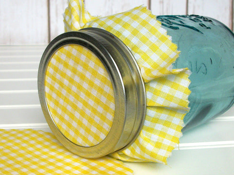 yellow gingham cloth Covers