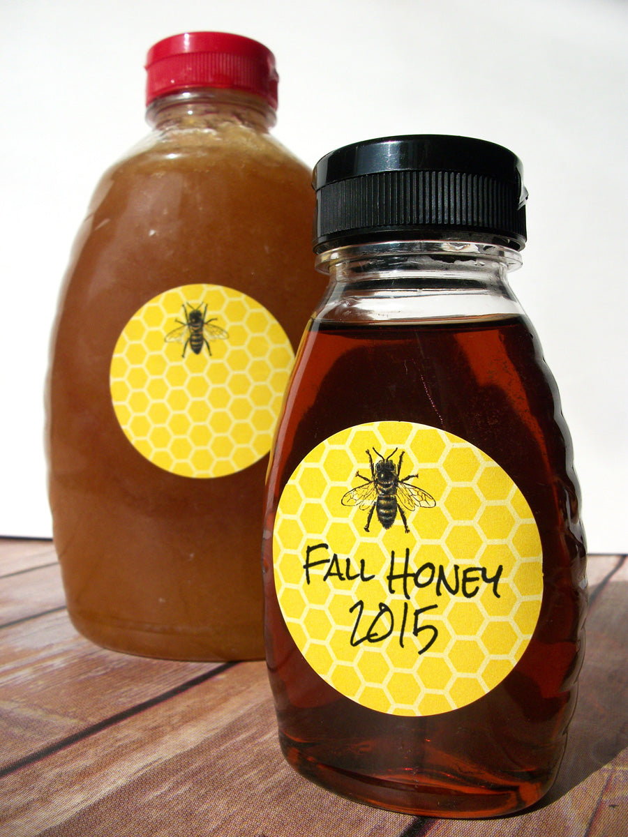 Yellow Honey Bee Bottle & Jar Labels | CanningCrafts.com