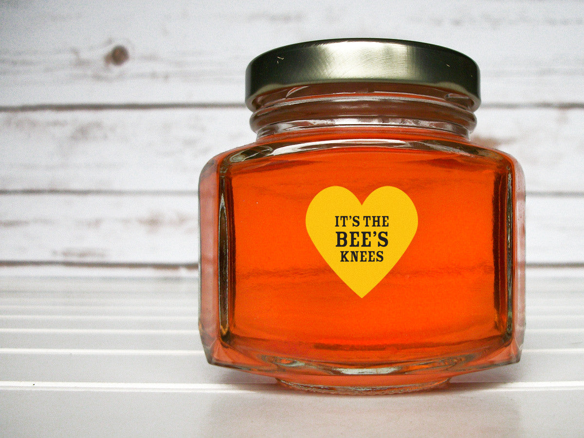 Save the Bees honey bottle labels | CanningCrafts.com