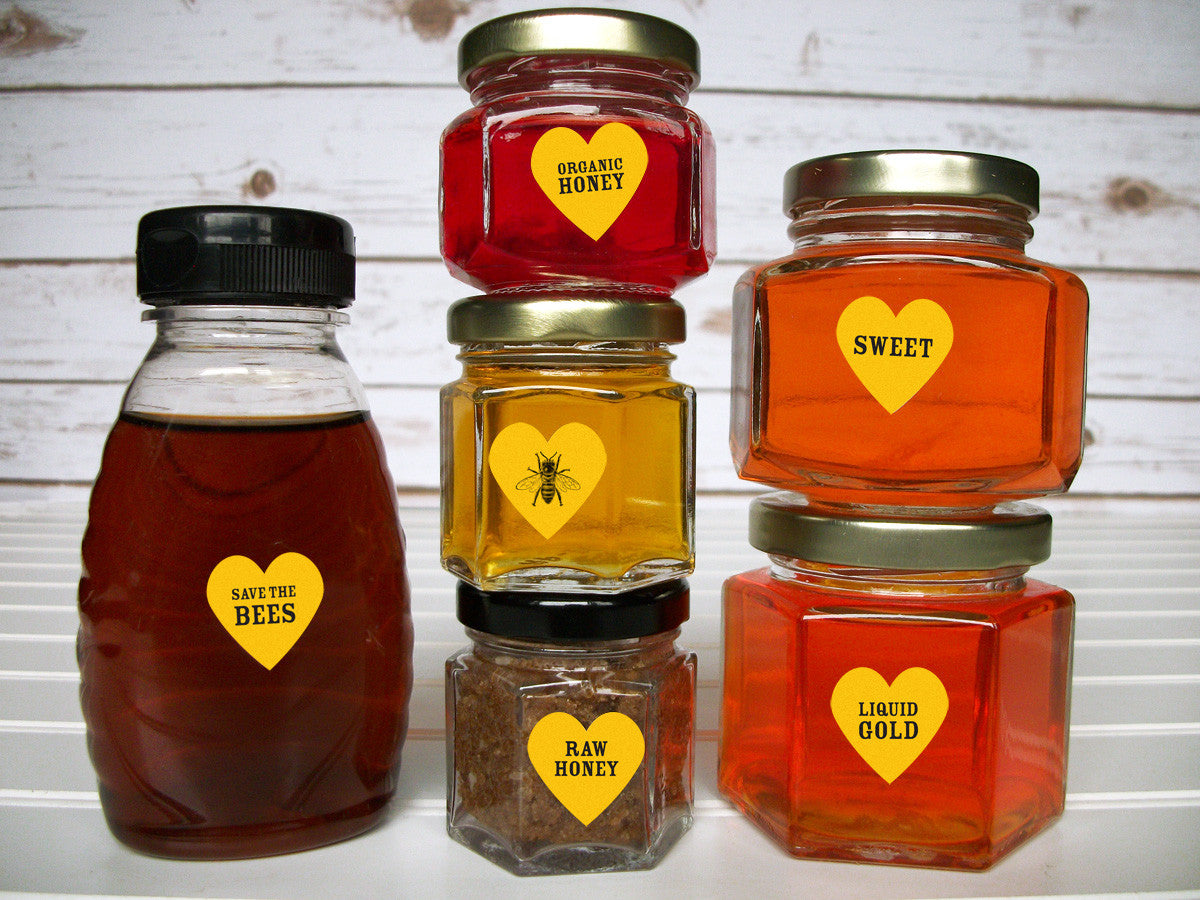 Local Raw Organic & Pure honey bottle labels | CanningCrafts.com