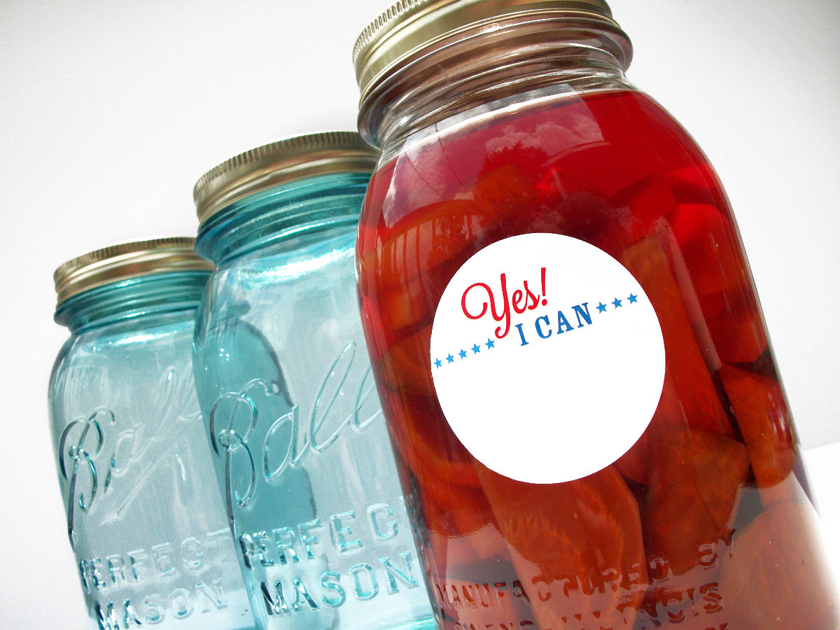 Patriotic Yes I Can Canning Jar Labels | CanningCrafts.com