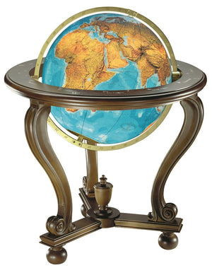Berlin Illuminated Crystal 20 Inch Floor World Globe By Columbus Globes