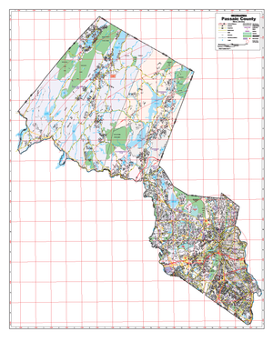 Passaic County, Nj Wall Map - Large Laminated