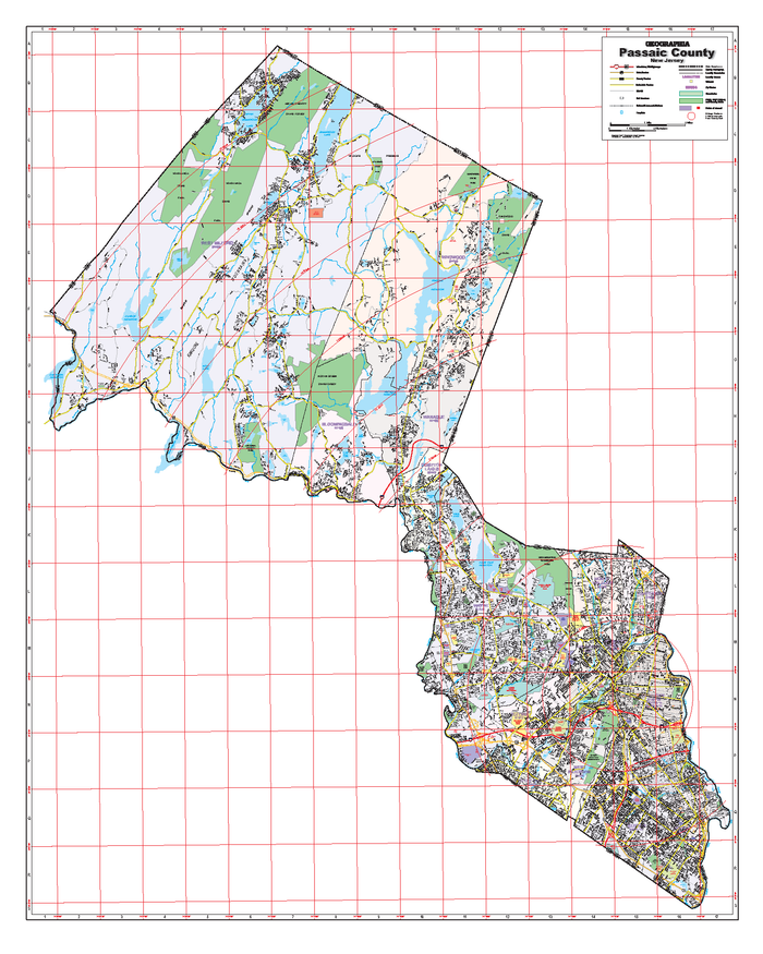 Passaic County, NJ Wall Map
