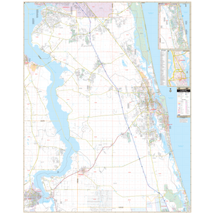 St Augustine, Fl Wall Map - Large Laminated