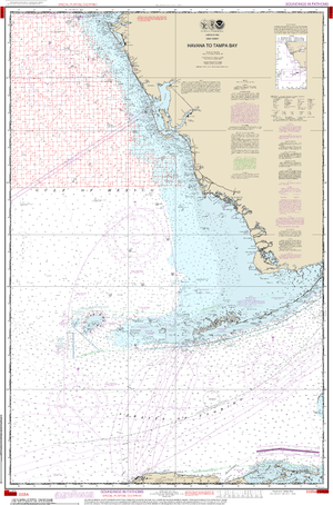 NOAA Nautical Chart 1113A: Havana to Tampa Bay (Oil and Gas Leasing Areas)