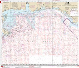 NOAA Nautical Chart 1115A: Cape St. George to Mississippi Passes (Oil and Gas Leasing Areas)