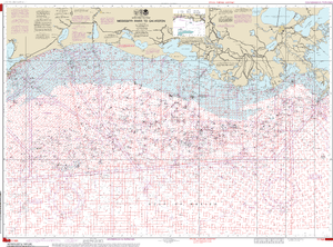NOAA Nautical Chart 1116A: Mississippi River to Galveston (Oil and Gas Leasing Areas)