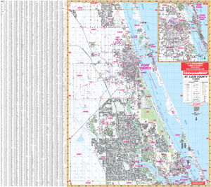 St Lucie Co Ft Pierce Port St Lucie, Fl Wall Map - Large Laminated