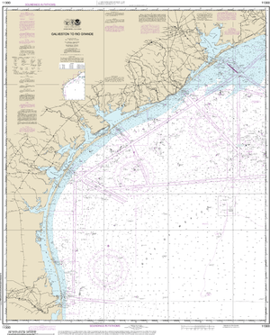NOAA Nautical Chart 11300: Galveston to Rio Grande