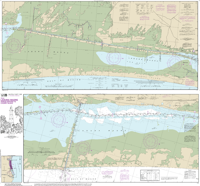 NOAA Nautical Chart 11306: Intracoastal Waterway Laguna Madre Middle Ground to Chubby Island