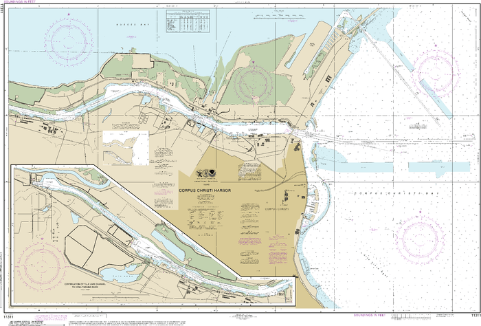 NOAA Nautical Chart 11311: Corpus Christi Harbor