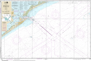 NOAA Nautical Chart 11323: Approaches to Galveston Bay