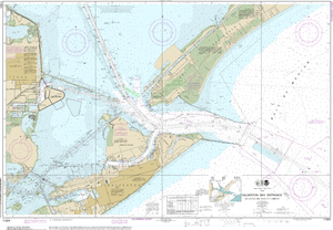 NOAA Nautical Chart 11324: Galveston Bay Entrance Galveston and Texas City Harbors