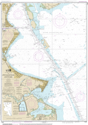 NOAA Nautical Chart 11327: Upper Galveston Bay-Houston Ship Channel-Dollar Pt. to Atkinson