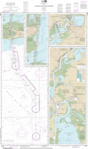NOAA Nautical Chart 11339: Calcasieu River and Approaches