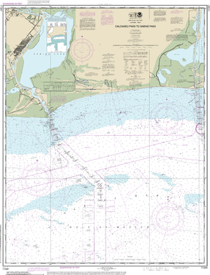 NOAA Nautical Chart 11341: Calcasieu Pass to Sabine Pass