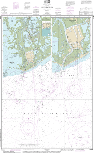NOAA Nautical Chart 11346: Port Fourchon and Approaches