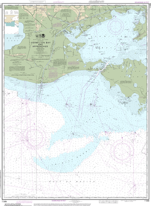 NOAA Nautical Chart 11349: Vermilion Bay and approaches