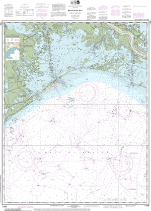 NOAA Nautical Chart 11358: Barataria Bay and approaches