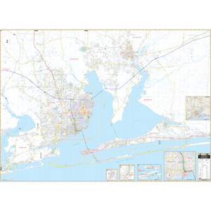 Pensacola Milton, Fl Wall Map - Large Laminated