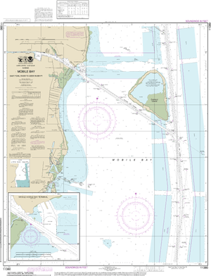 NOAA Nautical Chart 11380: Mobile Bay East Fowl River to Deer River Pt; Mobile Middle Bay Terminal